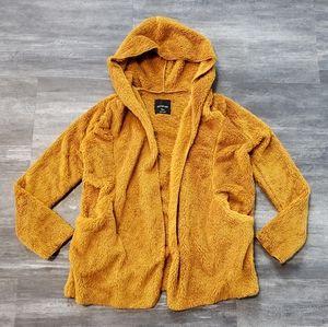 Burnt Orange ActiveUSA Fuzzy Cardigan Long Sleeve